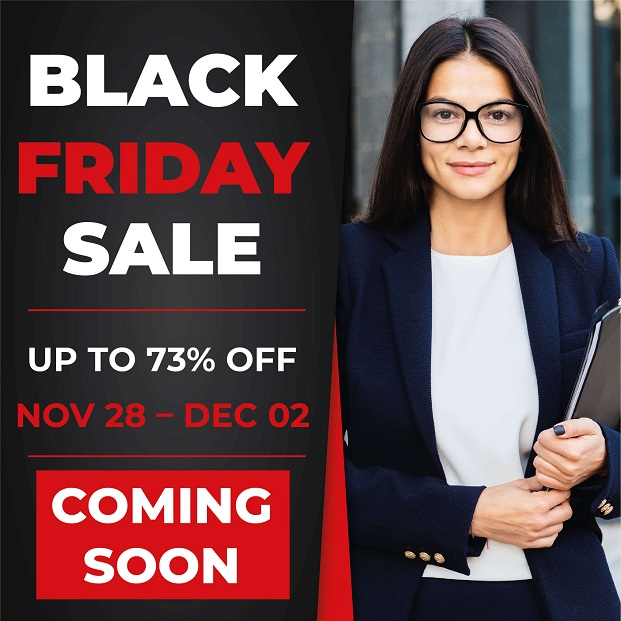 Black Friday sale Nov 28th to Dec 2nd 2019 upto 73% off