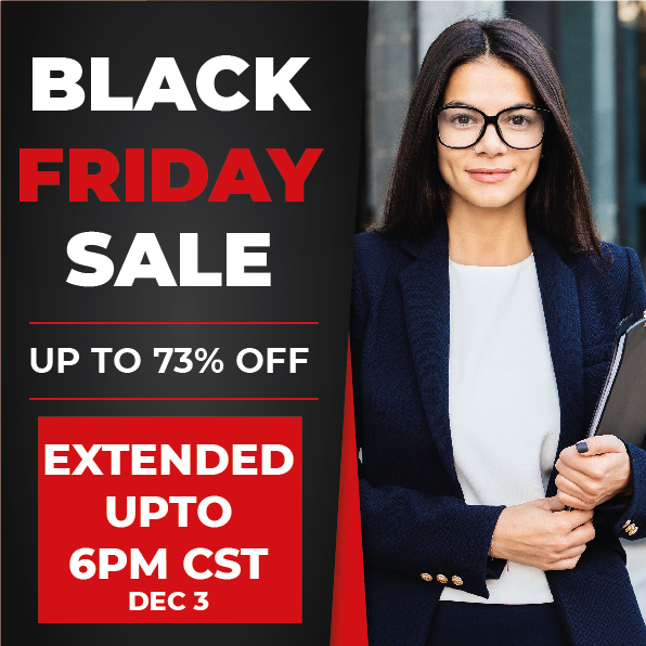 Black Friday Extended up to 6pm CST on 3rd December. iCert Global Black Friday Sale Buy Now!