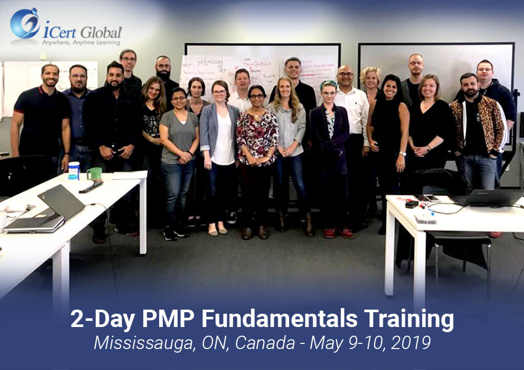 PMP Fundamentals Training Mississauga ON Canada May 9-10-2019