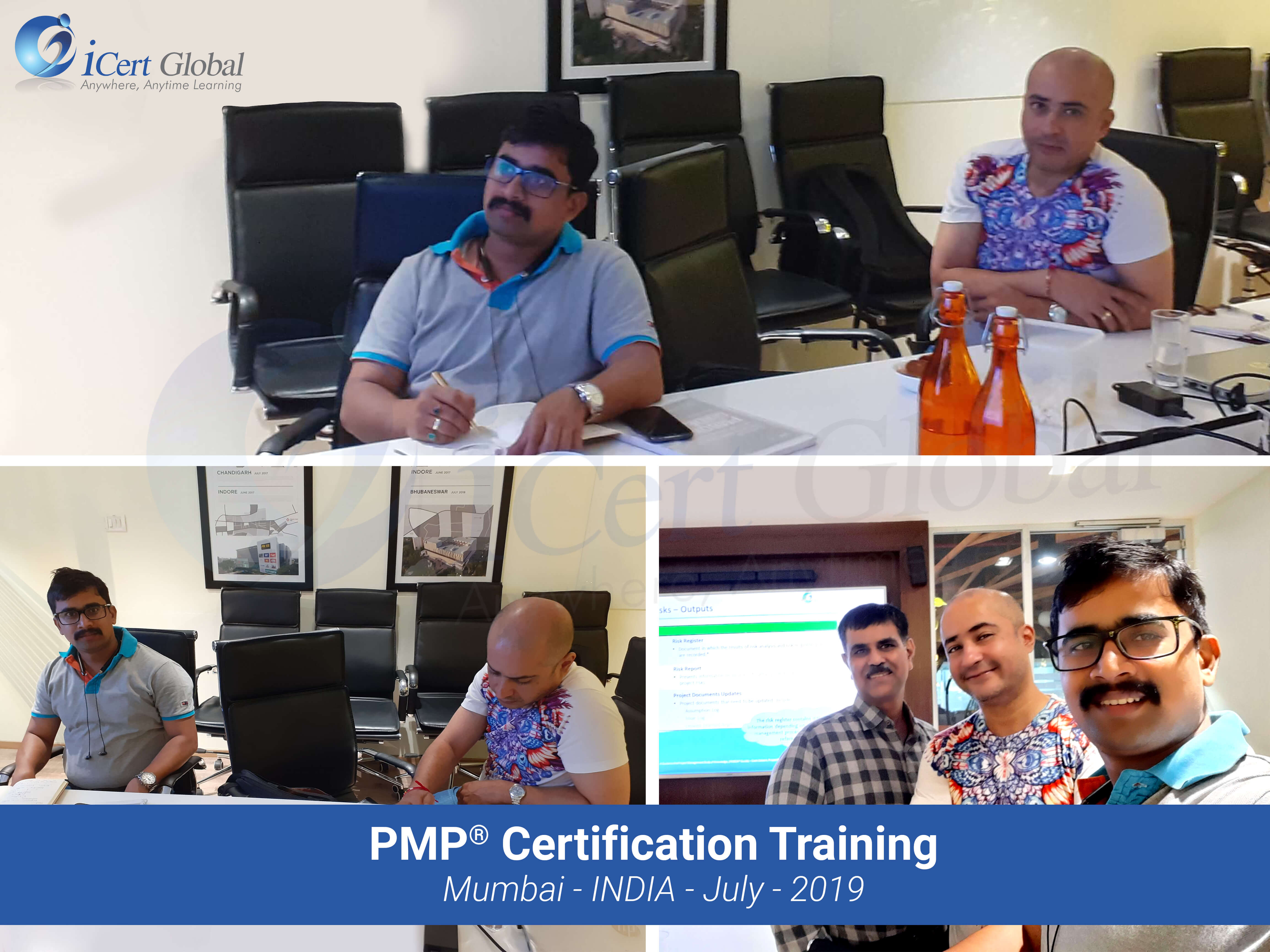 PMP Exam Prep Certification Training Classroom Course in Mumbai, India in July 2019