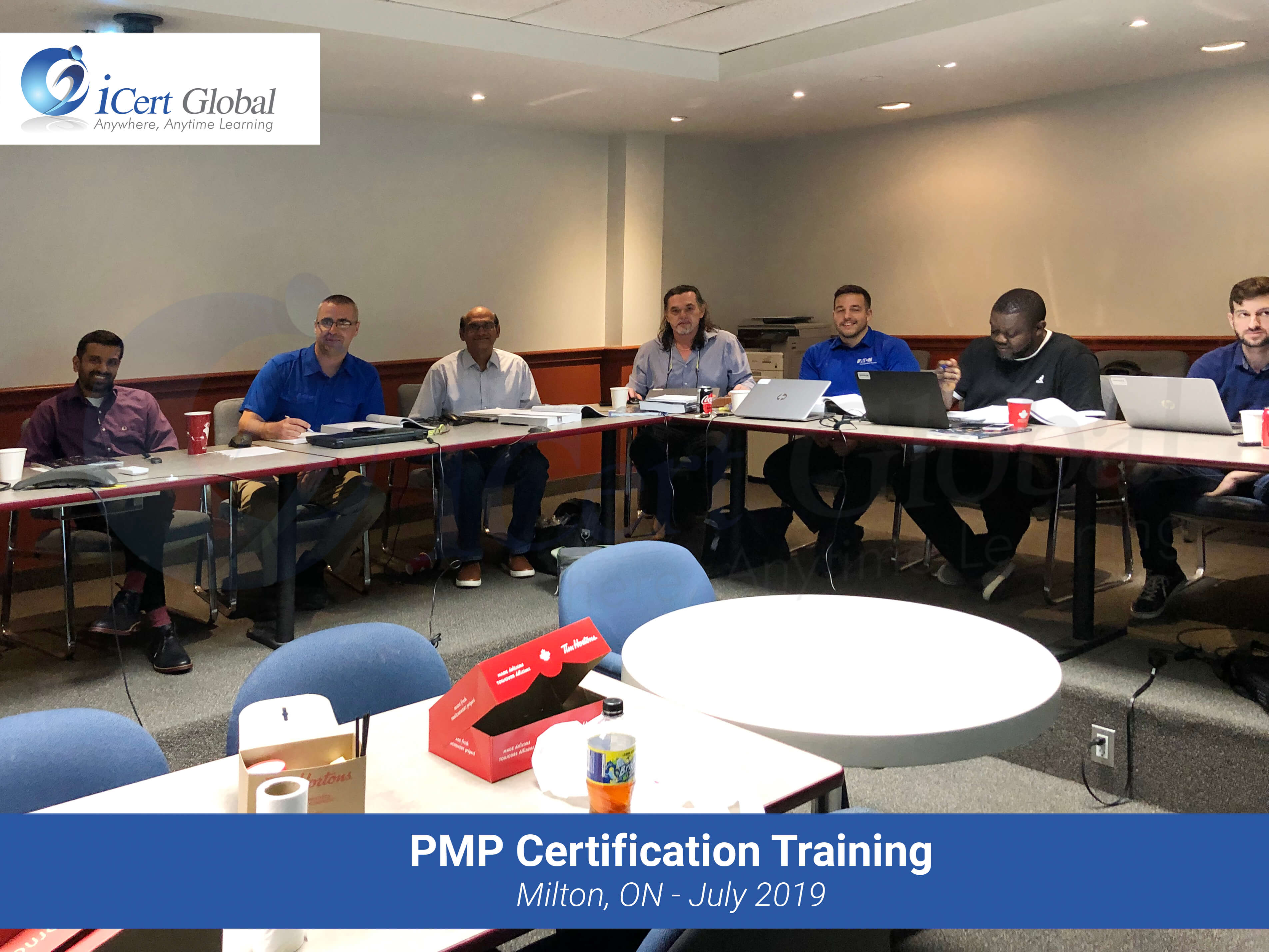 PMP Certification Training Exam Prep Classroom Course in Milton, Ontario, Canada in July 2019