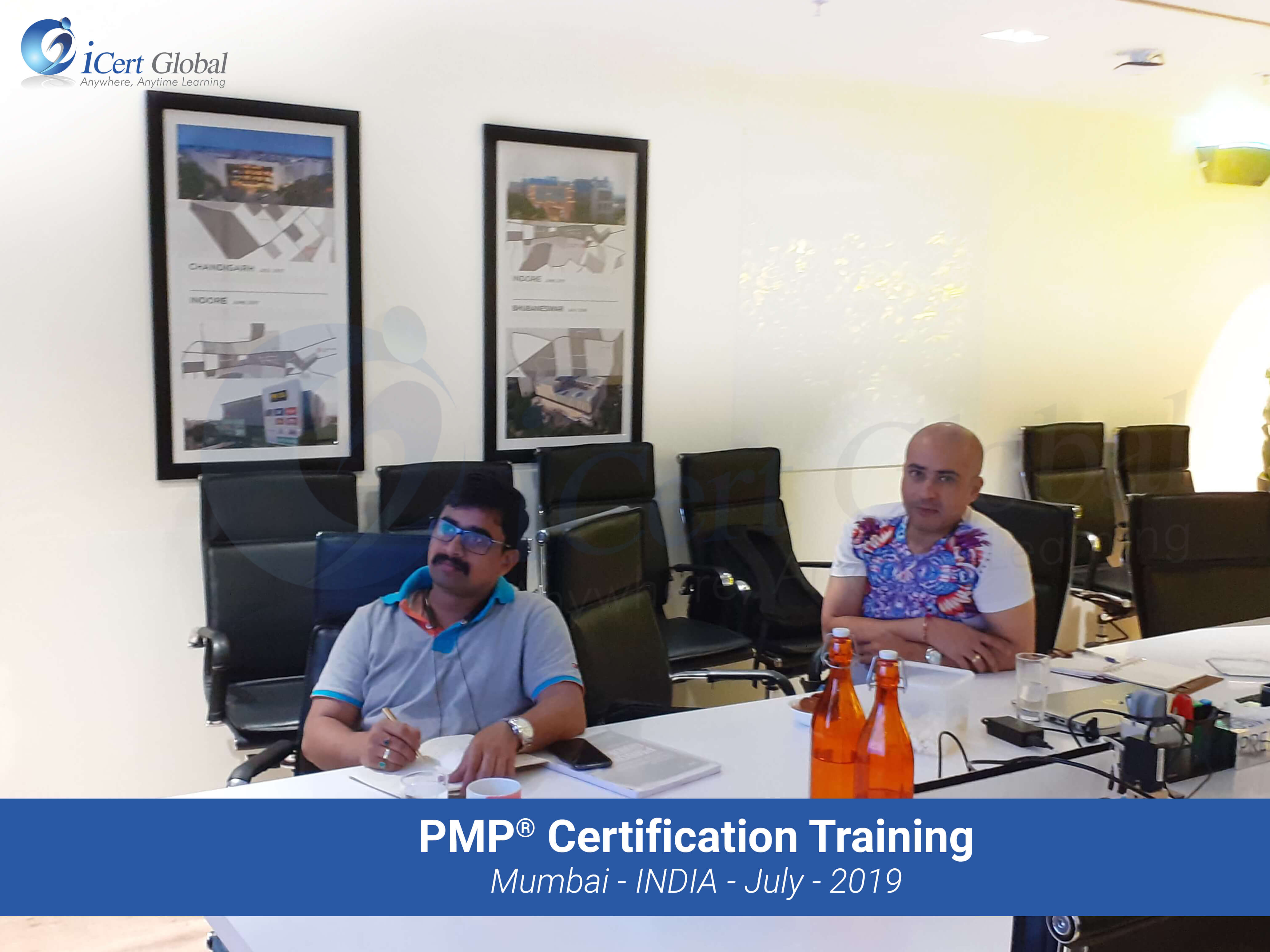 PMP Project Management Certification Training in Mumbai by iCert Global in July 2019