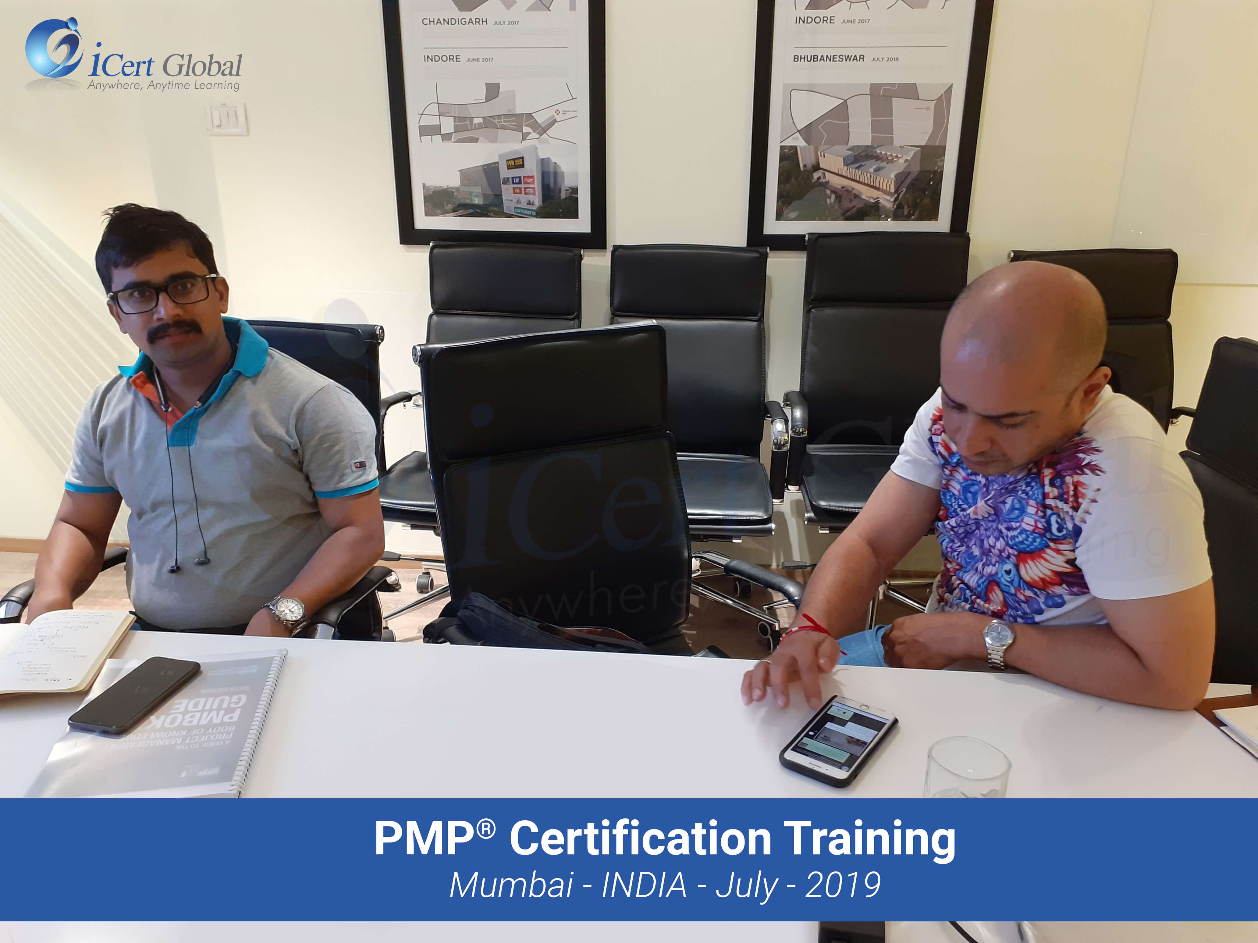 PMP Project Management Certification Training Course conducted by iCert Global in Mumbai, India in July 2019