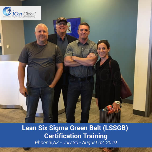 Lean Six Sigma Green Belt (LSSGB) Certification Training Instructor-led Classroom Course in Phoenix, AZ in June 2019