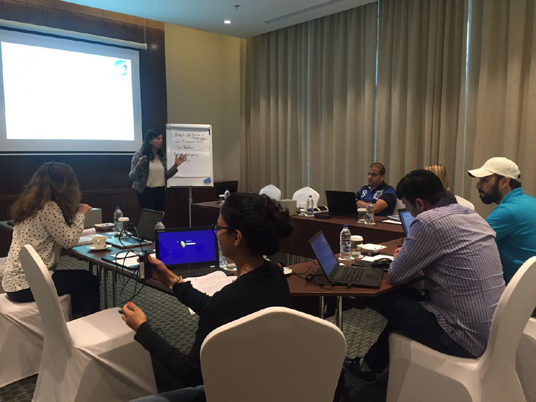 Instructor-led PMP exam prep classroom training course by iCert Global in Dubai, UAE.