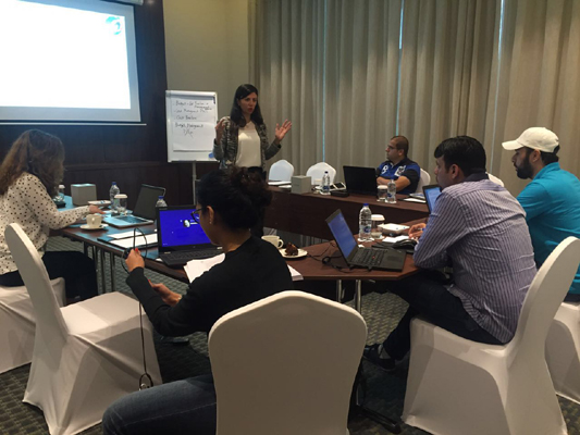 PMP exam prep training conducted by iCert Global in Dubai, UAE on April 22-23, 2016.