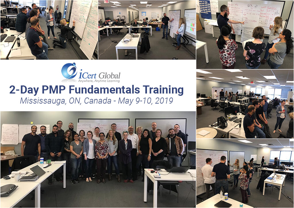 PMP Fundamentals Training Classroom Mississauga ON Canada May 2019 iCert Global